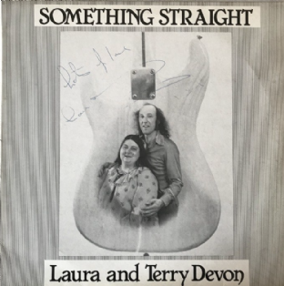 Laura And Terry Devon ‎- Something Straight (LP) (Signed) (EX/VG-)